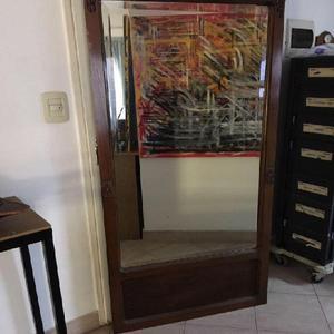 Espejo antiguo biselado/marco de madera $ 1600. antigua en Villa ...