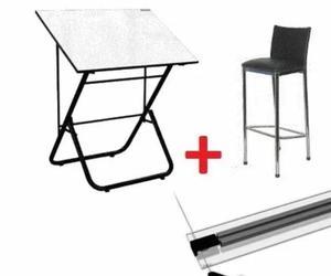 Mesa de dibujo técnico regla paralela banqueta