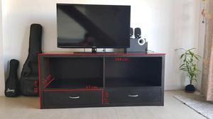Mueble mesa para tv. buena madera no es melamina con cajones