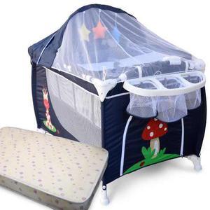 Practicuna plegable cuna bebé megababy+colchón.premiun