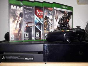 Xbox one fat + 2 joysticks + 5 juegos fisicos + 7 digitales