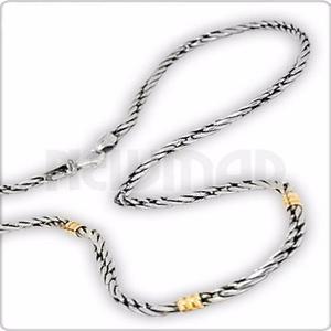 a94c3bb6a882 Cadena de plata 925 y oro 18 kilates - soga h0 mujer hombre