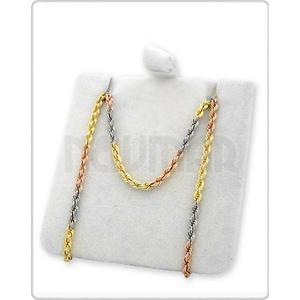 caae965038f6 Cadena soga oro tricolor 18 k láser italiana 45 cm 2.7 grs