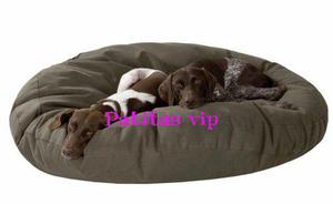 Colchon cama mascota perros 70cm. funda jeans con cierre.