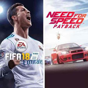 Fifa 18 + need for speed payback - xbox one - offline