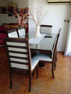 Juego de comedor de mesa de vidrio con 6 sillas clasf for Juego de comedor con mesa de vidrio