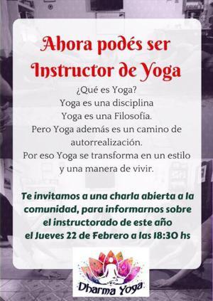 Instructorado y profesorado de yoga 2018