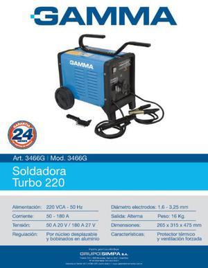 Soldadora gamma turbo 220 - mod. 3466g