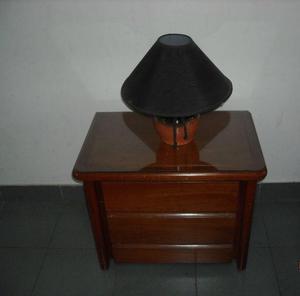 2 mesas de luz de roble