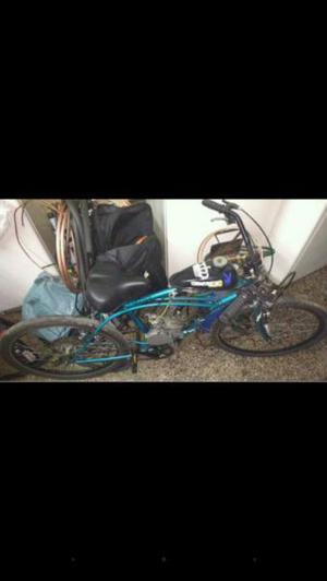Bicicleta con motor y bicimoto vendo o permuto