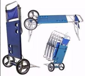 Carrito playero aluminio mesa anuncios junio clasf - Carro porta sillas playa ...