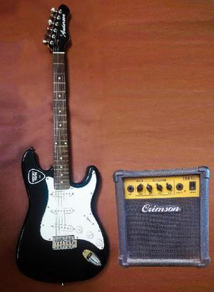 Combo guitarra anderson stratocaster ampli 10watts crimson