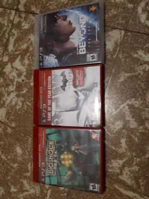 Juegos originales ps3 bioshock, batman arkham city, beyond