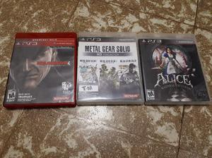 Juegos originales ps3 metalgear 1,2,3,4 y alice madness