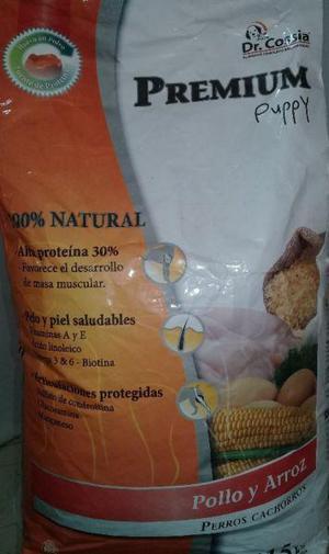 Alimento para perros premium puppy 15 kg - sin colorantes