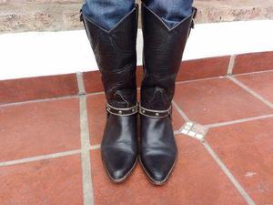 Botas texanas de mujer cuero marca charro oportunidad