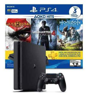 Playstation 4 ps4 slim 500gb 3 juegos joystick psn / palermo