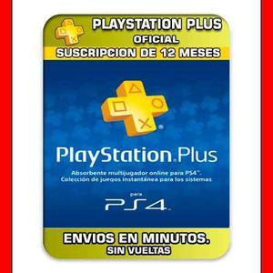 Psn plus 12 meses playstation ps4 promocion cuenta!