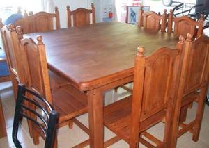 Venta de mesa cuadrada algarrobo 16 articulos usados for Aberturas algarrobo rosario
