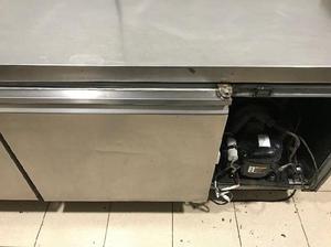 Heladera mostrador bajo mesada acero inoxidable 1.93mts