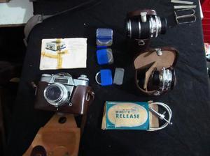 Kit camara fotografica antigua unica