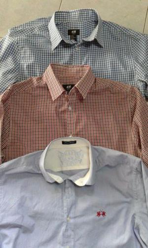 273183042f828 Vendo 3 camisas de hombre mangas largas de marca