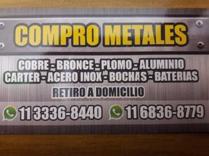 Compro cobre bronce plomo aluminio baterias a domicilio