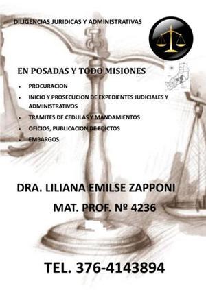 Diligencias juridicas - posadas misiones