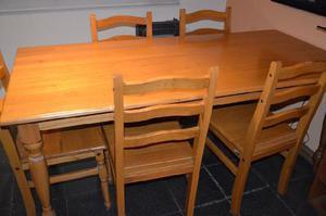 Mesa de madera 6 sillas
