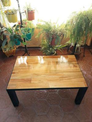 Steel & wood mesa ratona 90cm x 60cm estilo industrial.