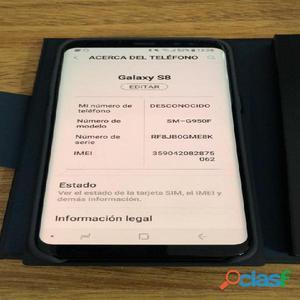 Samsung s8 950f 64gb en caja completo permuto por mac
