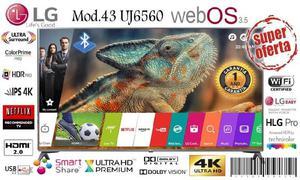 Smart tv lg 43 uj6560 4k especial oferta dia de la madre !!!