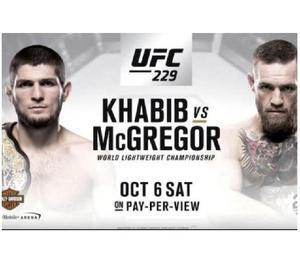 Ufc 229 palanquilla. mcgregor vs khabib. billetes ligne q2