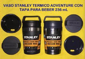 Vaso stanley adventure portatil con tapa para beber de acero