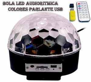 Bola led audioritmica parlante usb sd luz - la plata