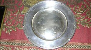 Antiguo platito de masas en metal plateado gab nsalp suecia