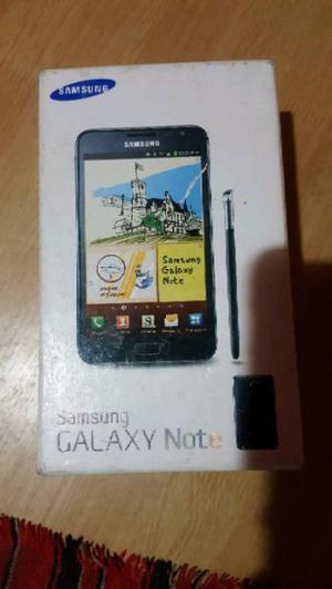 Samsung galaxy note en caja leer