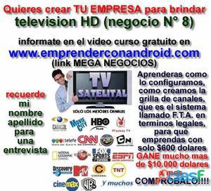 Oportunidad de obtener ganancias con television satelital.