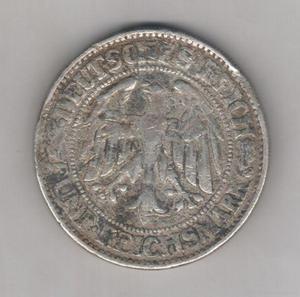 Moneda alemania weimar republic, 5 reichsmark 1928,muy rara