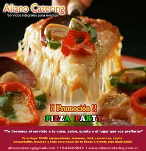 Catering pizza party libre y barra movil de tragos servicio