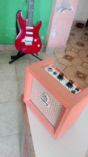 Guitarra eléctrica ibanez gio n427 mini ampli orange micro