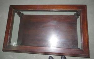 Mesa ratona madera noble con vidrio un regalo!!!! en