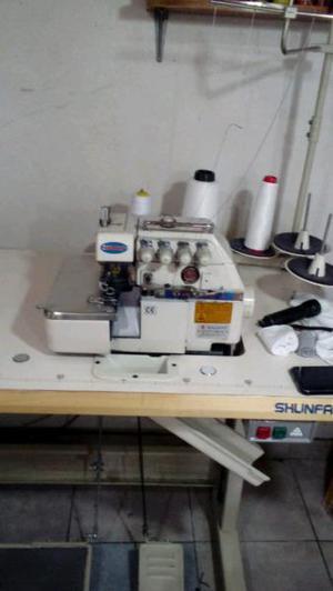 Maquina de coser oberlock 5 hilos shunfa