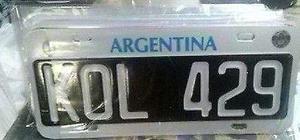 Chapa patente para trailer 101 argentina, normativa 1136/96
