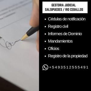 Diligenciamientos judiciales en salsipuedes / río ceballos
