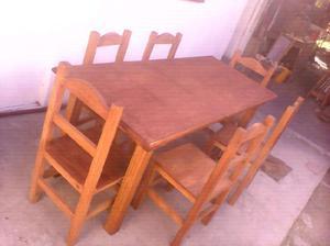 Juego de mesa de 2,45 y 10 sillas recto.