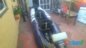 Kayak inflable con motor