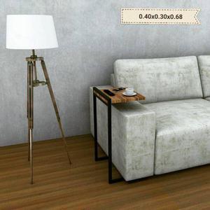Mesa de arrime- mesa para sillón- mueble estilo industrial