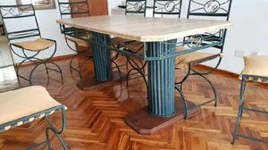 Mesa de comedor living 8 sillas