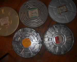 Antiguas latas de peliculas